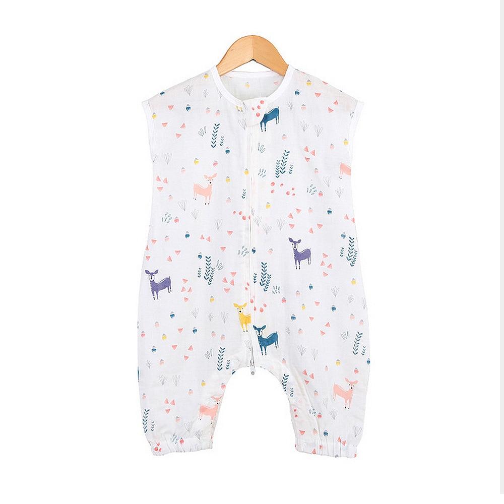 MrY Summer Baby Sleeping Bags Cotton Sleeveless Leg-Splitting Sleep Sack Cute Jumpsuit Sleeping Bag New