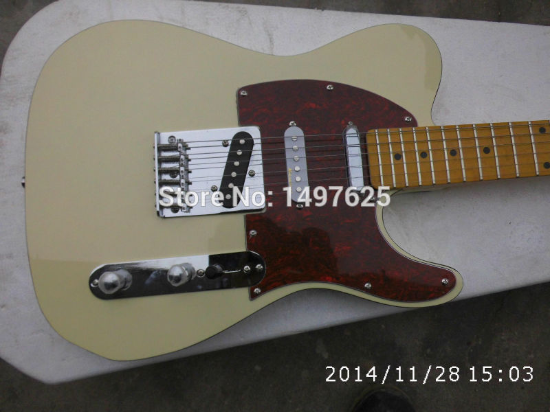 Free shipping Wholesale new fen tl custom electric guitar/light yellow coloe /guitar in china