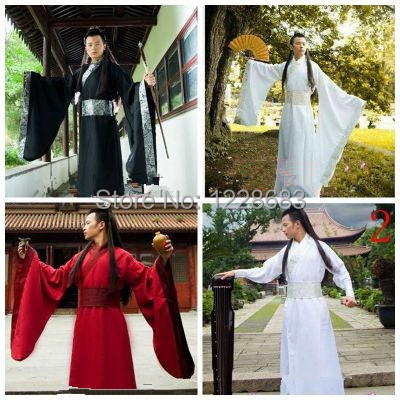 New Ancient Chinese Hanfu Costume Men Clothing Traditional China Tang Suit Oriental Chinese Traditional Dress Men
