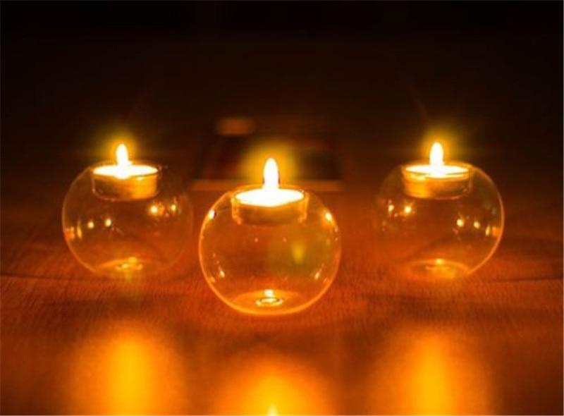 Eerzuchtig Helder Glas Ronde Opknoping Kaars Thee Licht Houder Kandelaar Thuis Decors Yu Nieuwste Technologie