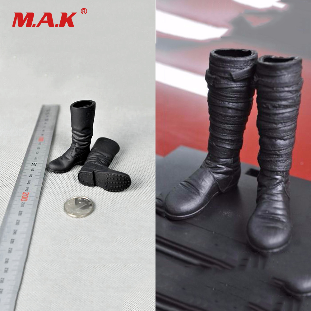 """1//6 Scale Black Shoes boots Model For 12/"""" Male Action Figure Doll Toys"""