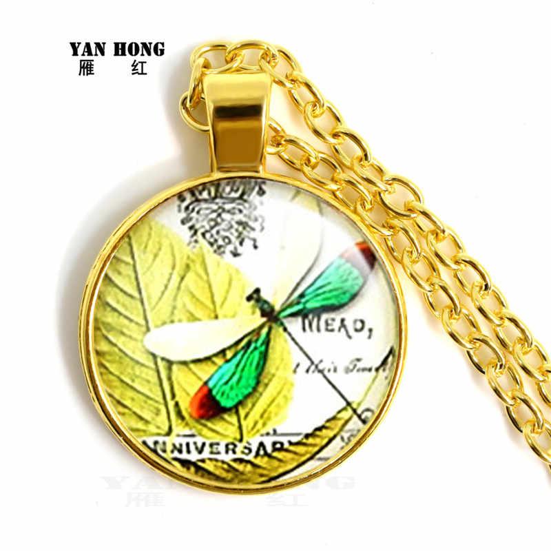 Yanhong תכשיטי אופנה גביש זכוכית שרשרת 25mm קטן שפירית עיצוב, מתנת יום הולדת הטובה ביותר עבור חברים