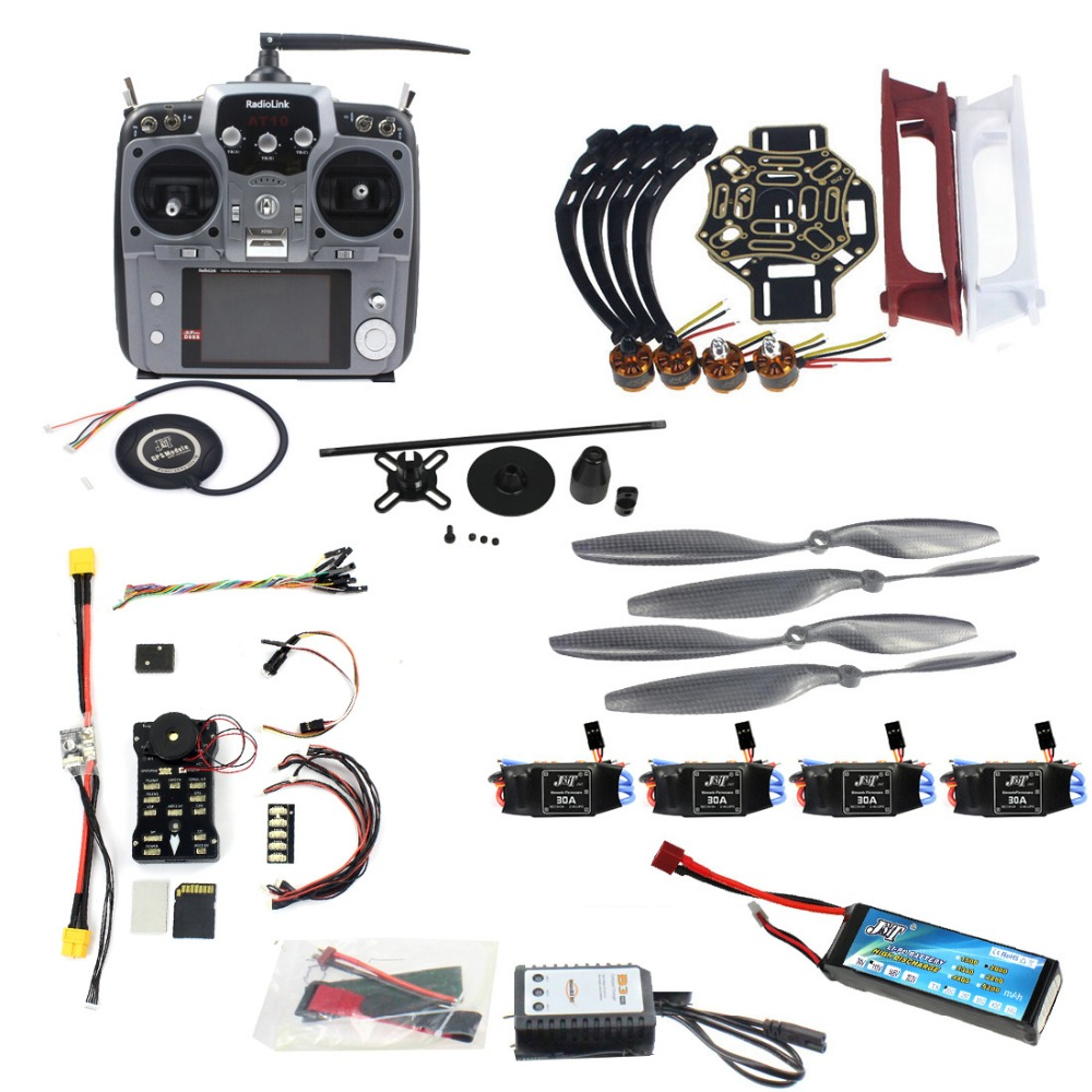 Full Set DIY Drone 4-axle Aircraft Kit HJ 450 Frame PX4 Flight Control  920KV Motor GPS AT10 Transmitter Props Model Assembly Kit