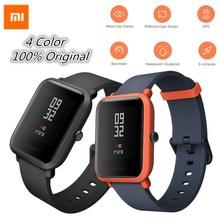 Xiaomi SmartWatch huami Amazfit Смарт-часы Bip бит Уход за кожей лица GPS Фитнес таккера сердечного ритма IP68 Водонепроницаемый поддержка Прямая доставка