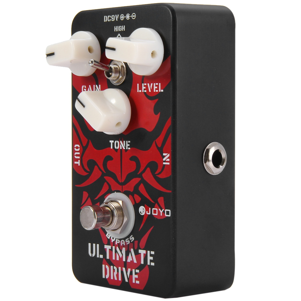 Aluminum Alloy True Bypass Design Ultimate Drive Electric Guitar Effect Pedal Surpassing Overdrive with 3 Adjustable Knobs marcel jufer electric drive design methodology