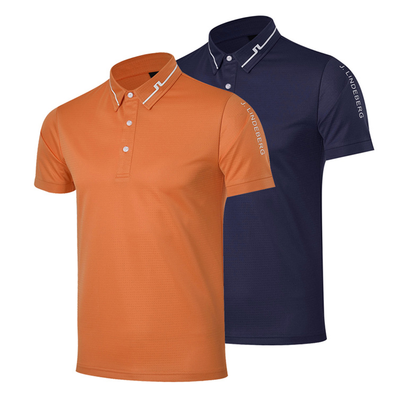 ФОТО New mens  Golf clothes 4colors JL Short sleeve Golf T-shirt S-XXL in choice Leisure Golf shirt Free shipping