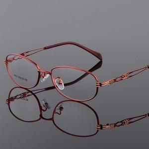 Image 3 - BCLEAR Dellannata di Modo Delle Donne Occhiali Occhiali Da Vista montature Della Signora del Metallo Occhiali Lente Trasparente Occhiali Ottici Telaio Femminile Retro Classic