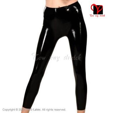 Панк готический Сращивание женские Леггинсы эластичные талии сексуальные кожаные леггинсы Сращивание выдалбливают обтягивающие леггинсы - 3