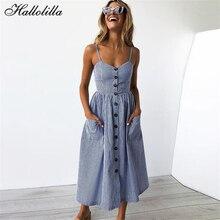 80692420ae85 Hallolilla Brand Dress Floral Print Bohemian Style Boho Vestidos Vintage  Party Club Sexy Clothes Midi Beach