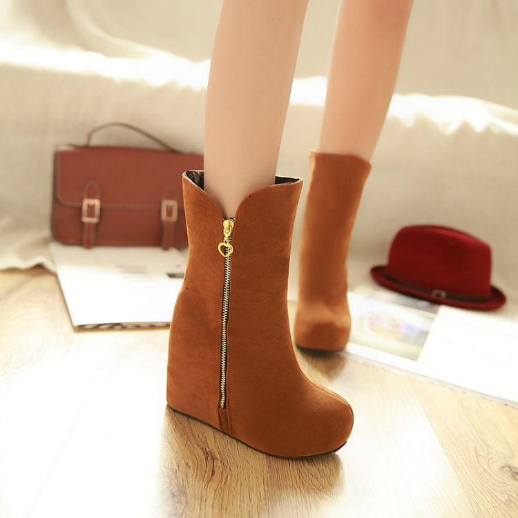 ФОТО Small yards boots 31 autumn and winter 32 elevator 33 plus size wedge boots 40 - 43 fashion snow boots free shipping