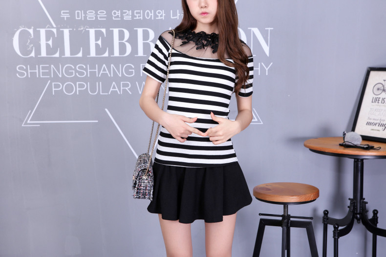 HTB1Sa9TJVXXXXa2XXXXq6xXFXXXf - Blusa black white striped blouse shirts long sleeve