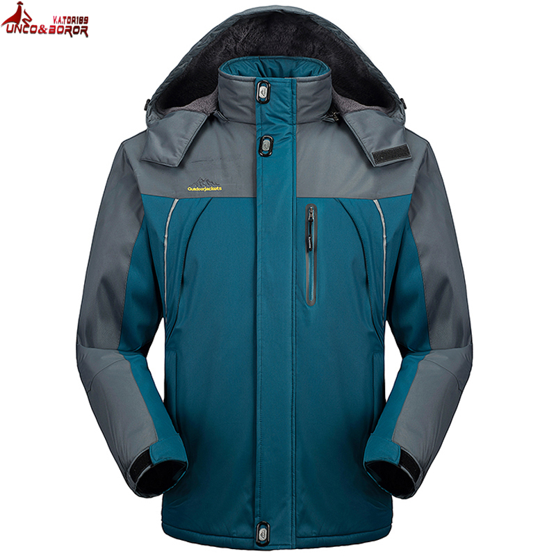 UNCO & BOROR nouvelle grande taille M ~ 6XL7XL 8XL 9XL hiver militaire veste hommes coupe-vent imperméable vestes hommes Outwear neige Parka manteaux
