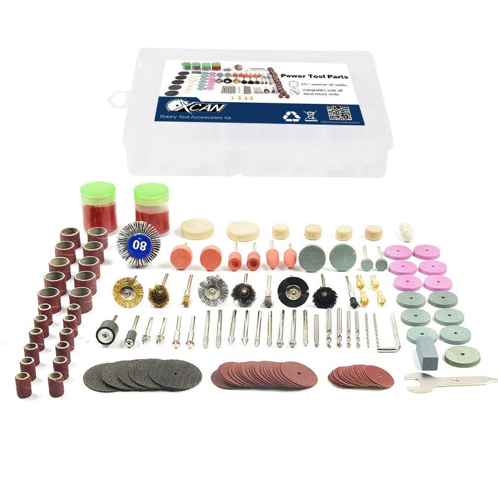 136pcs Rotary Power Tool Cutting Disc Mandrels Sanding Drum Drill Grinder Polishing Kit Multifunction Wood Work Repairing Tool