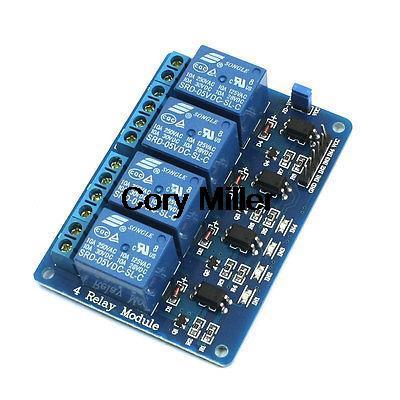 Dc5v 4 Channel Relay Module Pcb Circuit Control Board W Opto