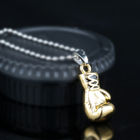 rocky boxing glove pendant necklace 3
