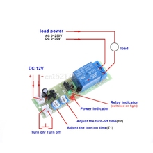 12V DC Infinite Cycle Delay Timing Timer Relay ON OFF Switch Loop Modul
