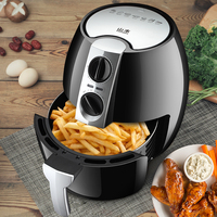 220V 4 5L Automatic Electric Deep Fryer Oil Free Smokeless Multifunctional French Fries Machine Electric Air