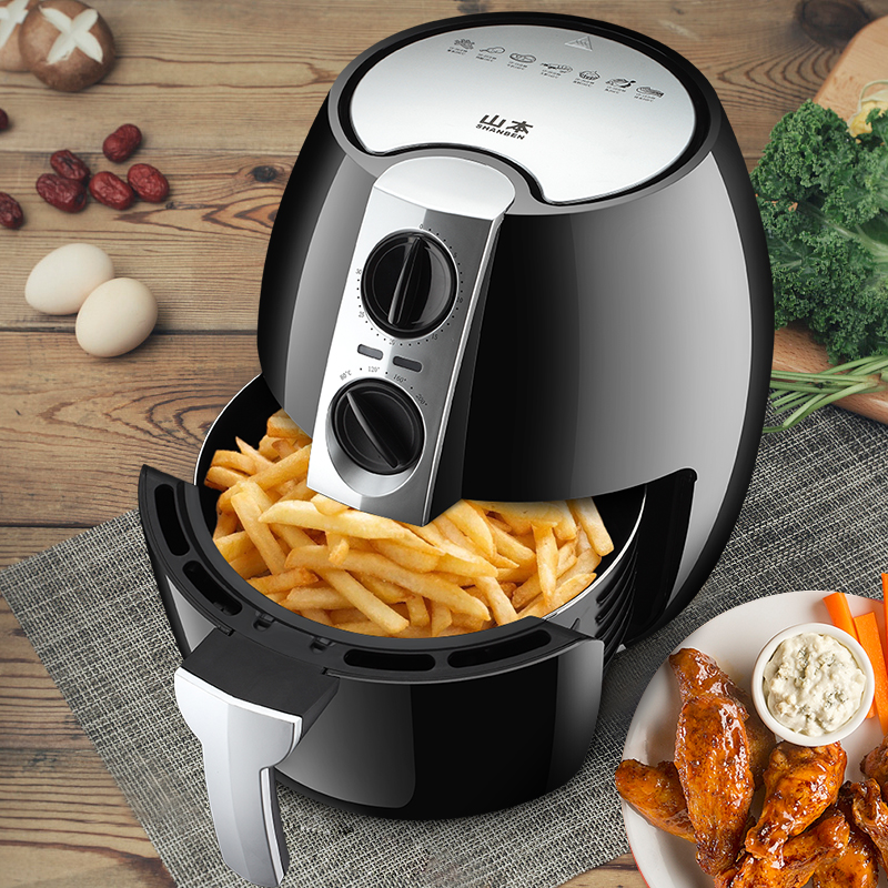 220V 4.5L Automatic Electric Deep Fryer Oil Free Smokeless Multifunctional French Fries Machine Electric Air Fryer Non-stick цена