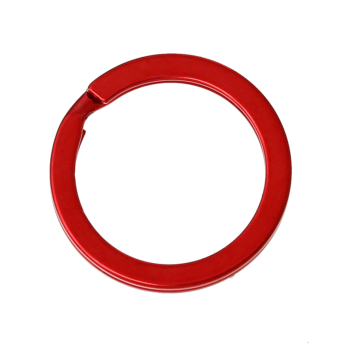 DoreenBeads Alloy Key Chains Key Rings Circle Ring Red 25mm(1