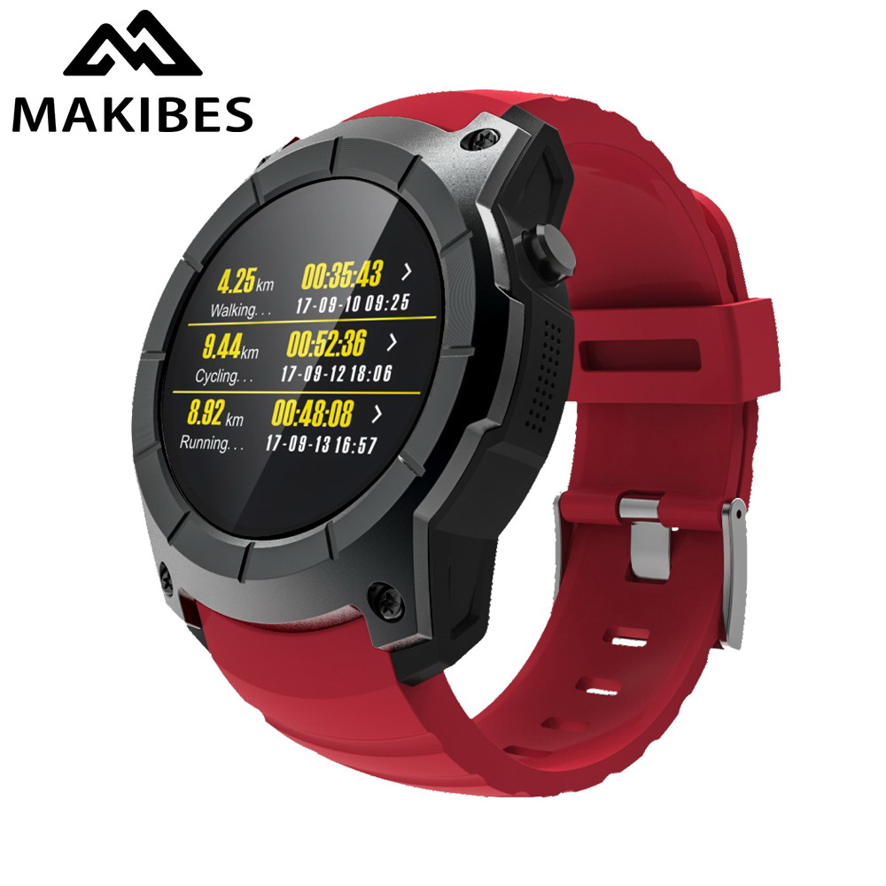 NEW Makibes G05 GPS Sports Watch MTK2503 1.3'' Color Screen Smart Watch multi-sport Smartwatch Heart rate monitor Bluetooth 4.0 makibes br2 smart watch men gps smartwatches electronic compass heart rate monitor multi sport dynamic optical sports watch
