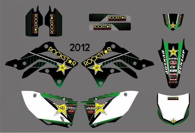 New Style (0246) Star  TEAM GRAPHICS & BACKGROUNDS DECALS STICKERS Kits for  KX450F KXF450 2012