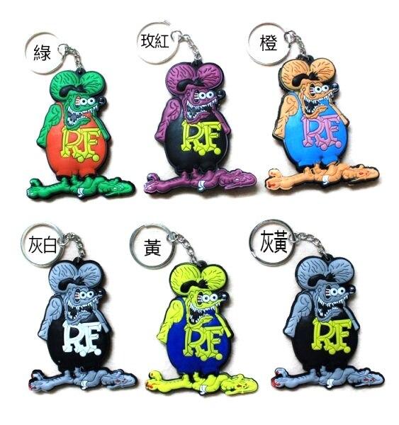 40 pièces PUNK RF Rat Fink figurine Action chaîne poupée 25g 7.5 cm haute qualité terreur dessin animé Halloween porte-clés