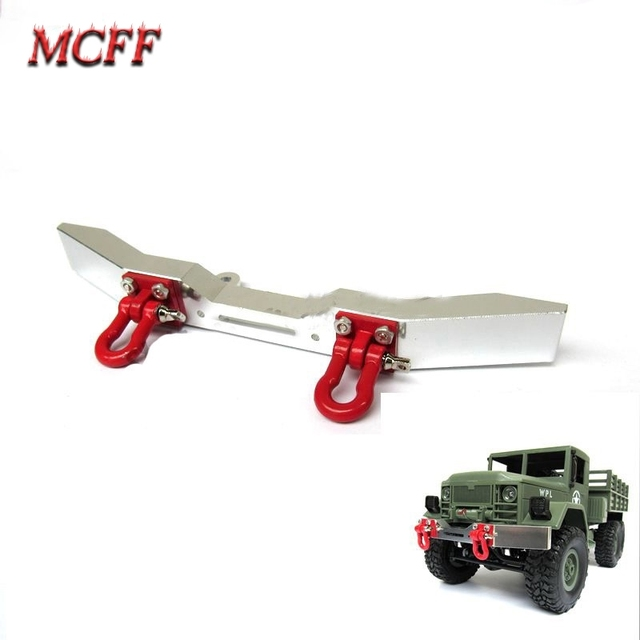 Metal Front Bumper with Hook for 1:16 RC  Crawler Car WPL B14/B16/B24/C14/C24 Truck Spare Part  Accessories