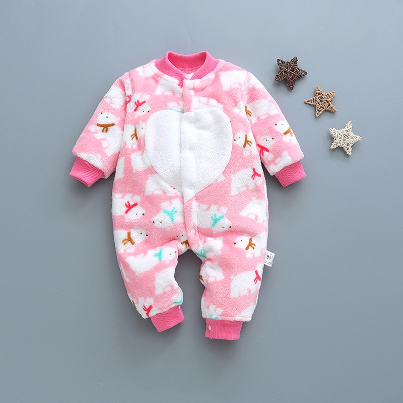 4120d54d0 fashion baby boy romper soft flannel toddler baby romper long sleeve ...