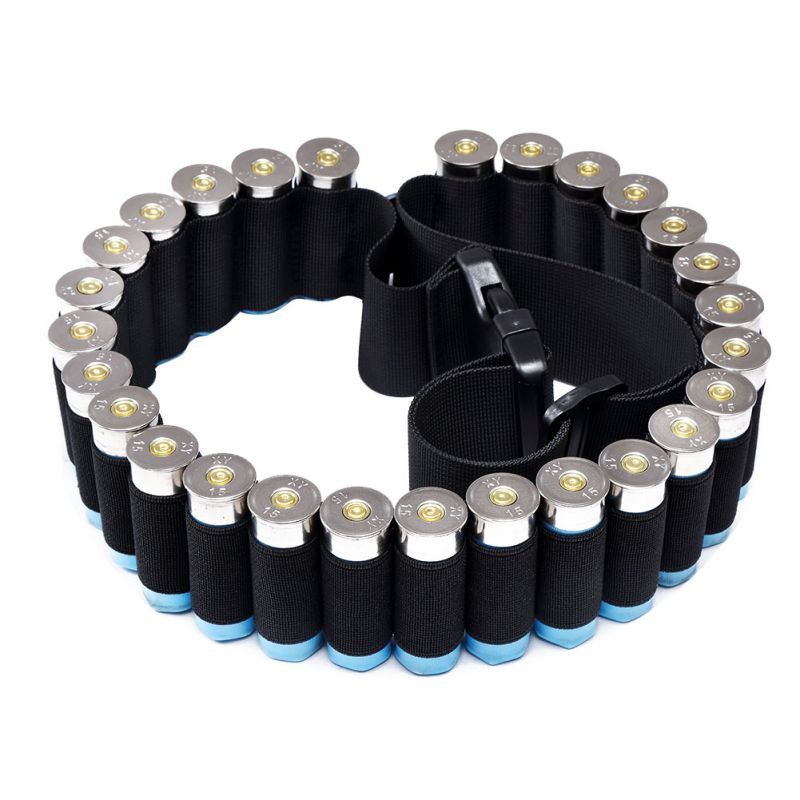 140 * 5cm Utomhus Militär Shotgun Cartridge Belt Airsoft Hunting Tactical 25 Shell Bandolier Belt 12 Mät Ammohållare