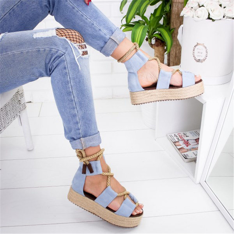 HEFLASHOR 2019 Torridity Women Sandals Fasten Shoes  Female Beach Shoes  Heel   Sandal Plus Size Zapatos De Mujer
