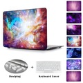 "Beautiful Flaming Star Nebula Crystal Hard Case For Macbook Pro 13"" 15"" air 13 11 New 12 inch Seelve Bag Cover Purple Nebula"