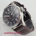 Reloj de pulsera luminoso deportivo militar de marca superior para hombre, reloj de pulsera automático de cuero