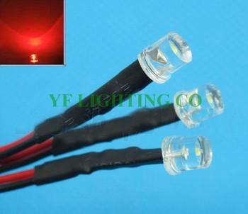 DIY dekoracja led płasko zakończony 5mm led DC12V wstępnie przewodowy led woda przezroczyste czerwone dip led 20mm kabel prewired led tanie i dobre opinie BINFU 12 v Kontrolki YF-12PWPT5WR-T