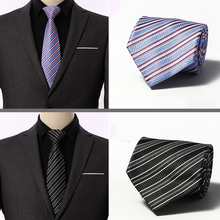 Mens Ties New Classic Silk Neck 8 cm Plaid Striped for Men Formal Business Luxury Wedding Party Neckties Gravatas