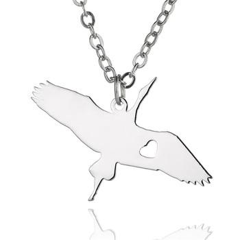 Nuevo collar con dije de ave de ganso salvaje, collar con colgante de cisne Cygnus de acero inoxidable de Color dorado y plateado, collar con colgante de pájaro para mujer
