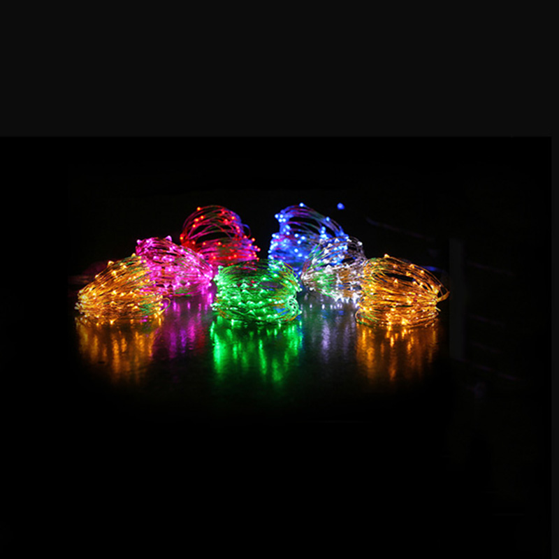 2M 3M 5M Koppar Led Fairy String Lights CR2032 Button Batteri - Festlig belysning - Foto 5