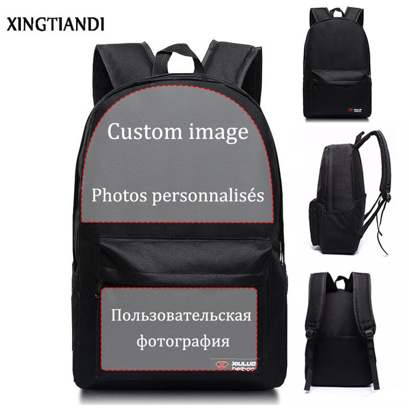 Customize Your Image/Name/Logo/Brand Design Schoolbag Anime Travel Bags Book Bag Boys&Girls Backpacks Unisex Mochila