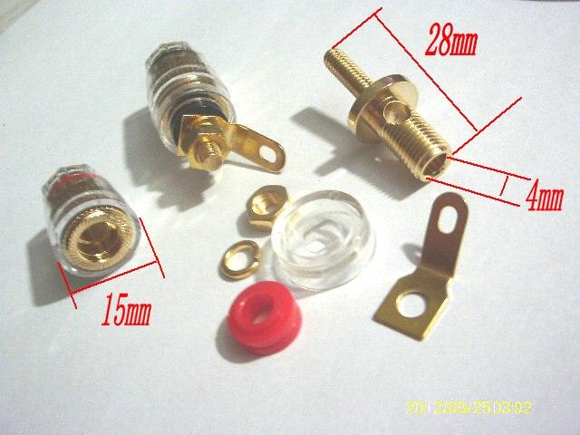 100pcs High Quality Binding Post for Speaker Amplifier 4MM Banana Plug