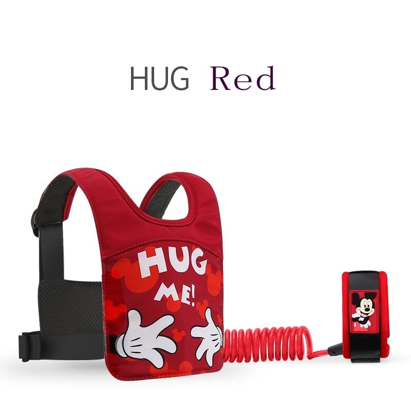 Disney  2 In 1 Baby Walker Anti-Lost Wrist Link Toddler Leashes Safety Harness Baby Strap Rope Vest Children Walking Hand Belt