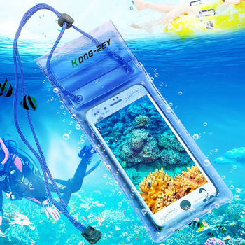 KONG-REY 1 piece 5.5 inch Waterproof Bag Mobile Phone Pouch Underwater Dry Case Cover For Canoe Kayak Rafting Swimming Drifting
