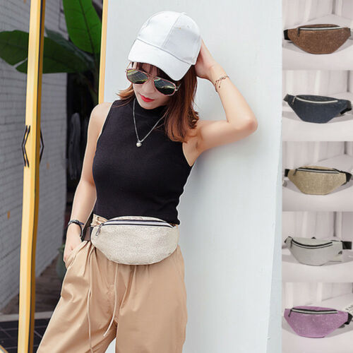 Women Waist Fanny Pack Belt Bag Chest Pouch Travel Hip Bum Bag Lady Small Purse Summer Crossbody  Messenger Bag