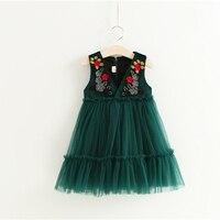 チュチュ花ベビードレス用ウェディングパーティーノースリーブ幼児赤ちゃんヴィンテージ刺繍ドレス用2-6年幼児赤ちゃん服