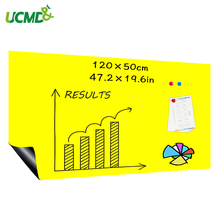 DIY Ferrous Yellow Board Dry Erase Drawing Writing Board Kitchen wall Message board 120 x 100 cm x 0.6 mm
