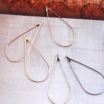 Pendiente de gota de agua en forma de lágrima de Color dorado, 4 piezas, anillo de Conector colgante DIY para oreja, collar de perno, pulsera, abalorio, hallazgo de joyería