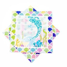 10pcs/lot Mermaid Party disposable Paper Napkin Cartoon Kids Favorite Birthday Decoration Baby Shower Theme Festival For Girl