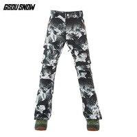 GSOU SNOW Brand зима Pofessional лыжные штаны Для мужчин сноубордические брюки Водонепроницаемый ветрозащитный Лыжный Спорт Сноубординг брюки спортив