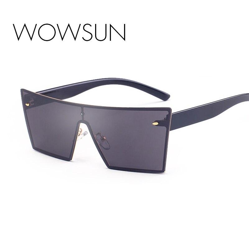 efe0b2417a21d WOW Sol 2017 estilo retro Gafas de sol hombres mujeres hombres unisex  Eyewear oculos espejo lente gran Marcos Sol Gafas A950