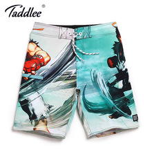 Taddlee Brand Men Board Surf Shorts Swim Beach Boxer Trunks Shorts Quick Drying Swimwear Swimsuits Sports Running Shorts 2017