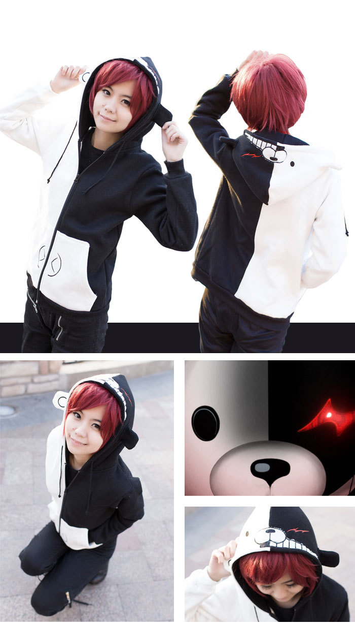 The projectile on breaking comic black and white bear winter coat super adorable sweater chain cos clothing