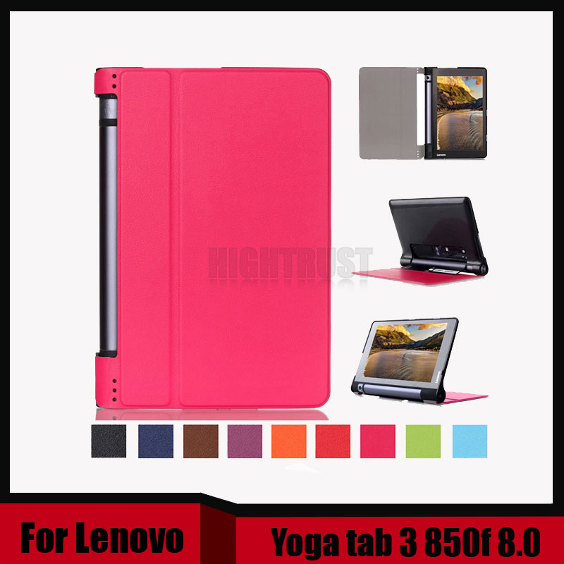 3 in 1 New Ultra thin smart Pu leather case cover For 2015 Lenovo Yoga tab 3 850f 8.0 tablet pc + Stylus + Screen Film new luxury fashion pu leather cover case stand cover case for lenovo yoga tab 3 8 850f yt3 850f tablet free film free stylus